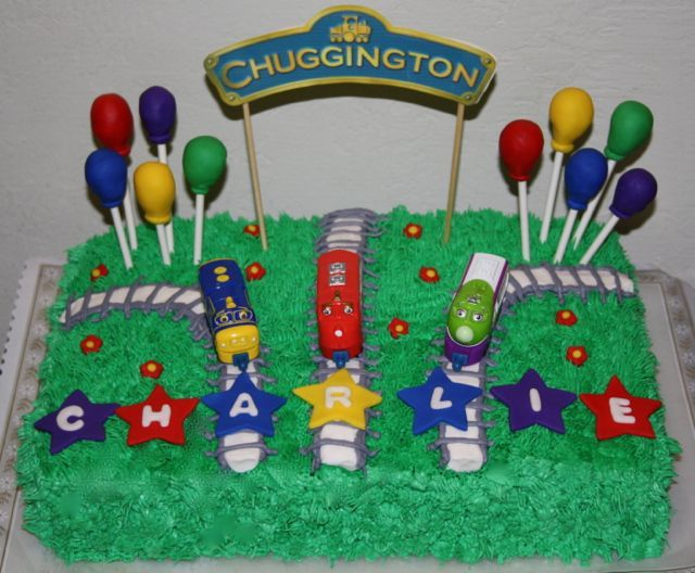 Jacquelines Sweet Shop Chuggington Birthday Party Cakes - Chuggington birthday cake