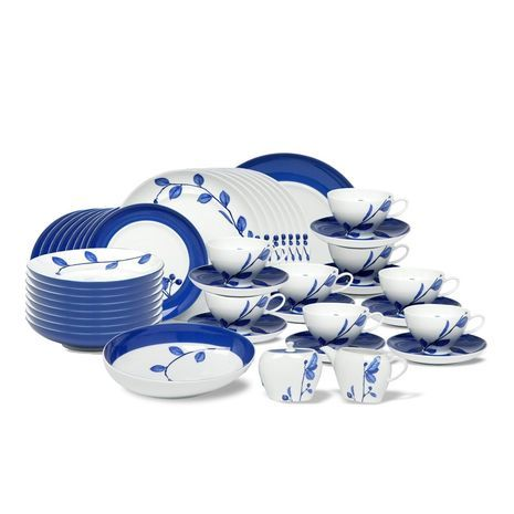 45 Piece Dinnerware Set Mikasa True Blue | Wine glasses and dishes ...