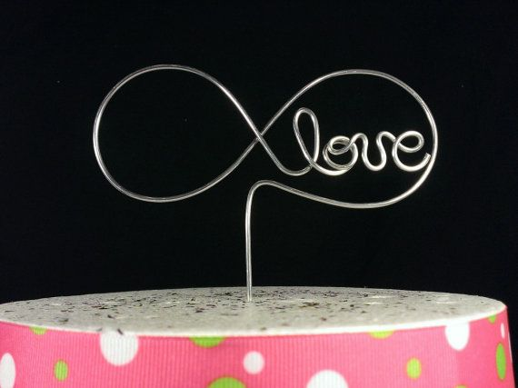 Wedding Cake Topper Infinity Cake Topper By Crosswiredesign
