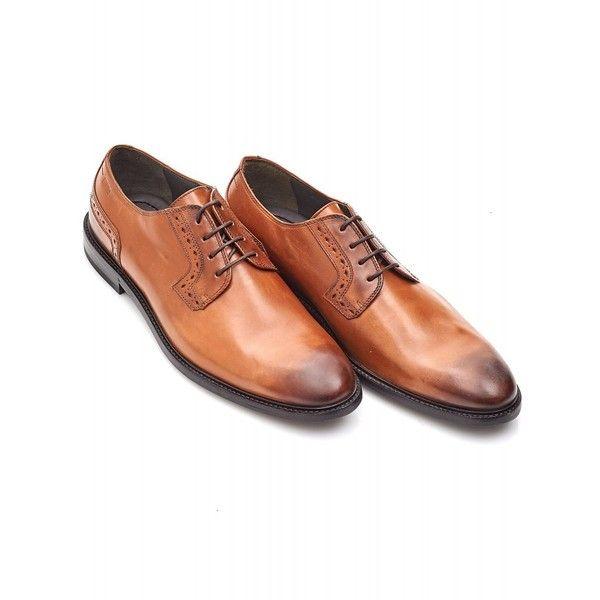 9cbfcf9b9c3 Hugo Boss Black C-Corio Tan Leather Derby Shoes ($215) ❤ liked on ...
