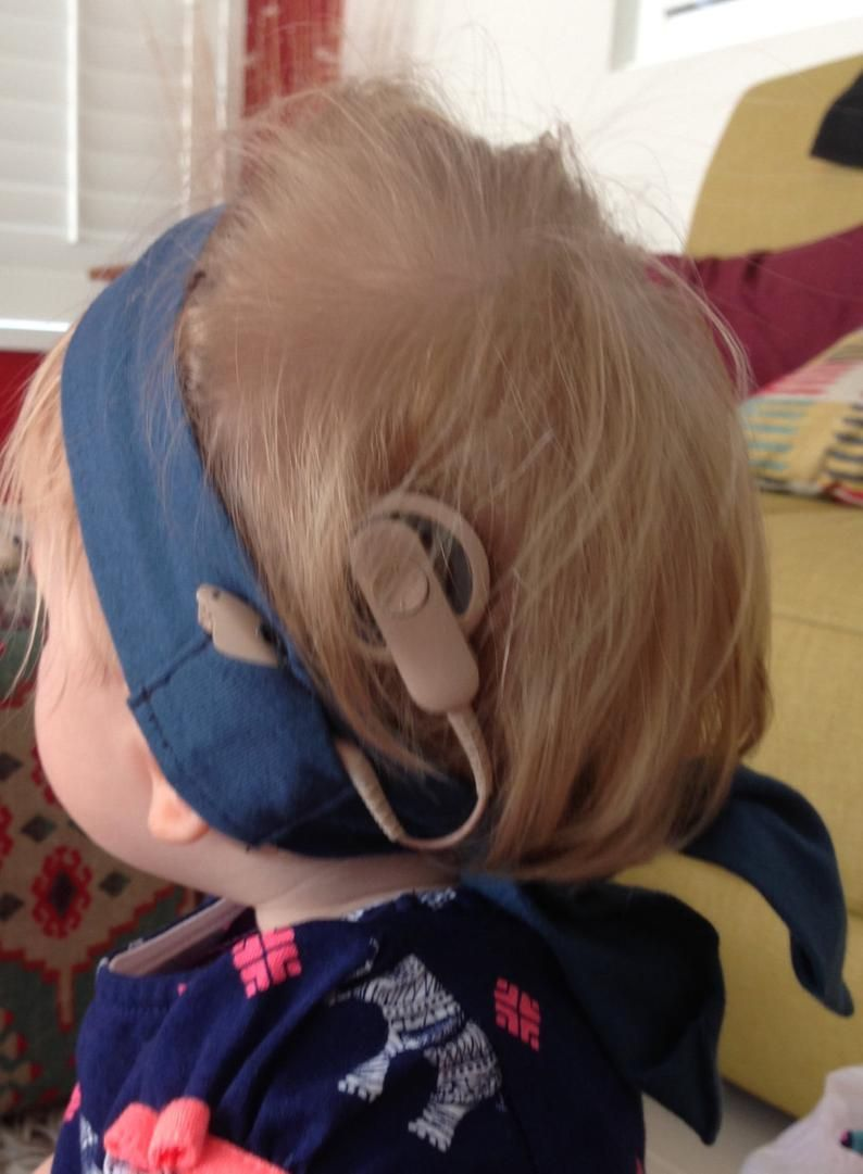 Adult tie headband for cochlear implant