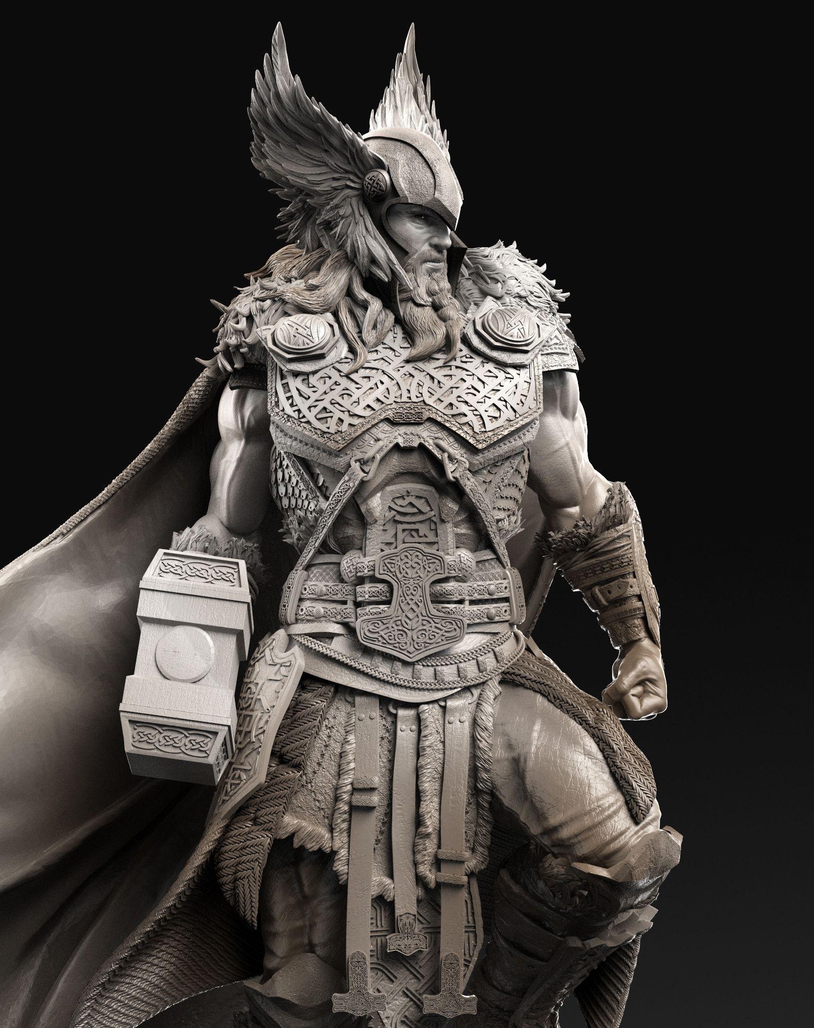 058b2b2c20f ArtStation - - Thor - Celtic Warrior-, Caleb Nefzen | Thor / Norse ...