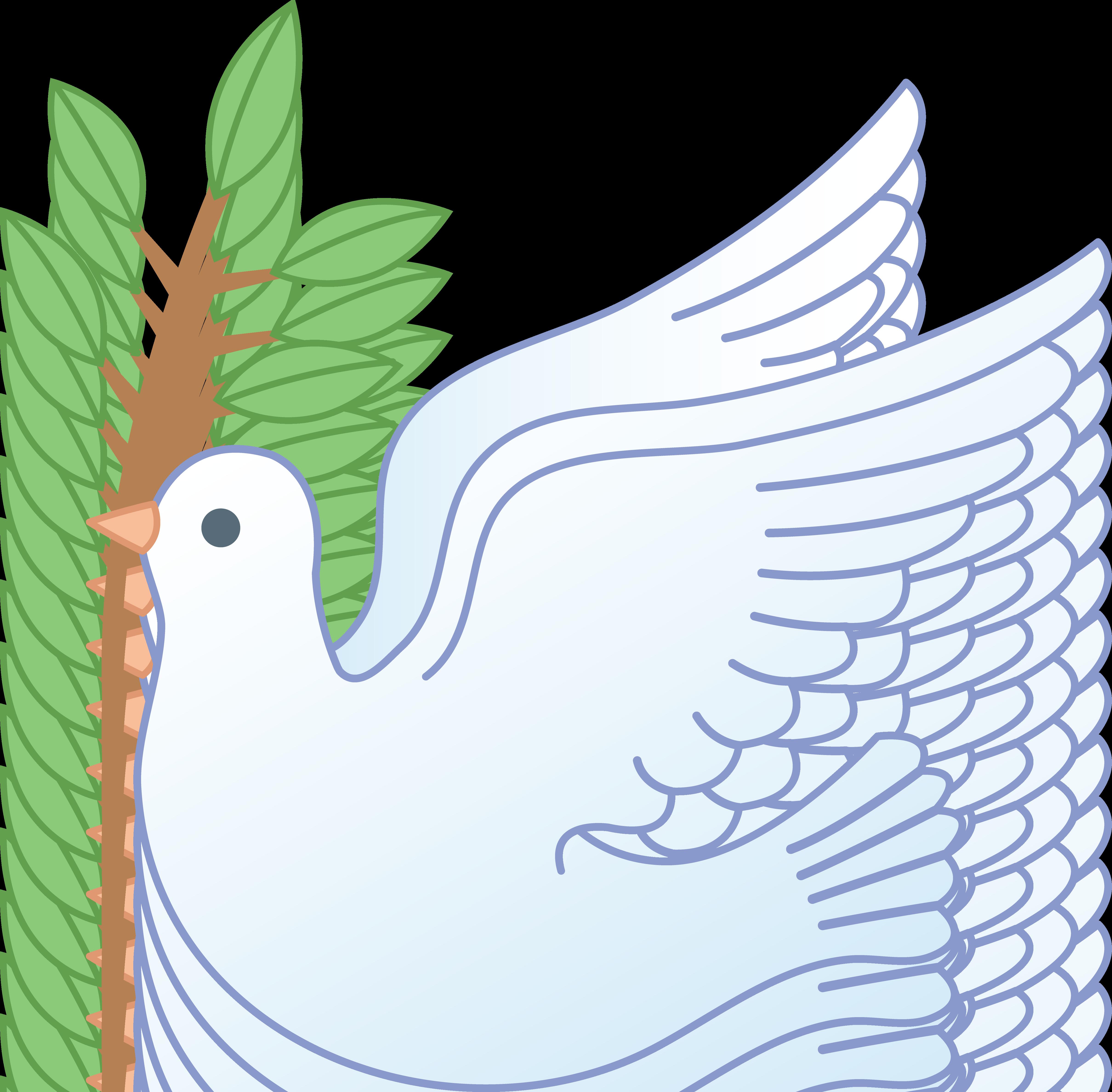 White Peace Dove With Branch Dove And Olive Peace Dove Clip Art