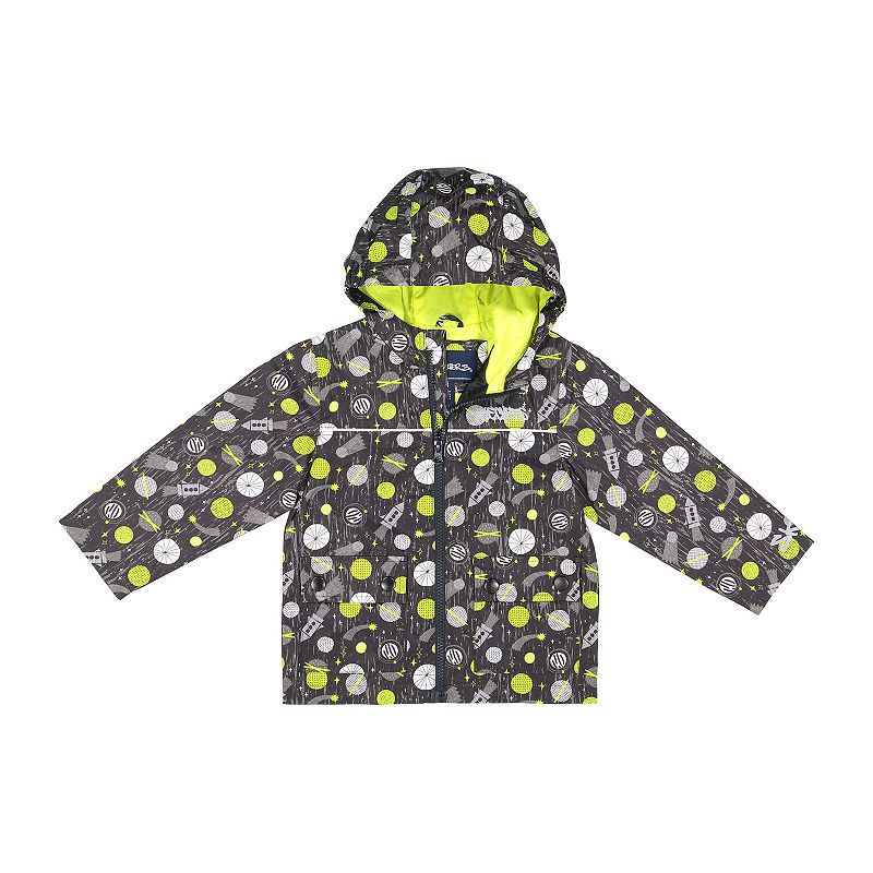 Lined Midweight Raincoat- Toddler Boys