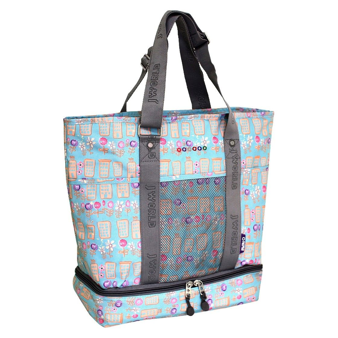 J World Elaine Tote Bag with Insulated Lunch Compartment - Urban