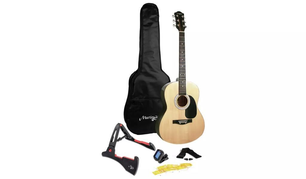 Martin Smith Full Size Acoustic Guitar And Accessories 60 Argos Traveldeals In 2020 Guitar Acoustic Guitar Martin Smith