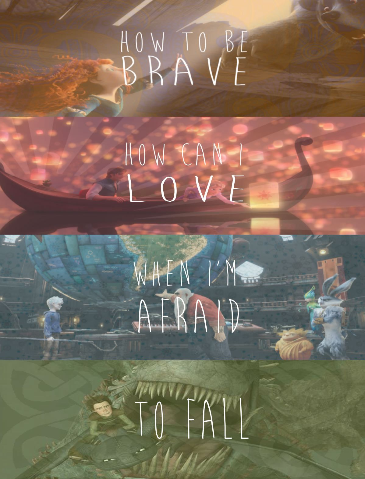 Rise of the Guardians, Brave, Tangled, and How to Train Your Dragon mashup