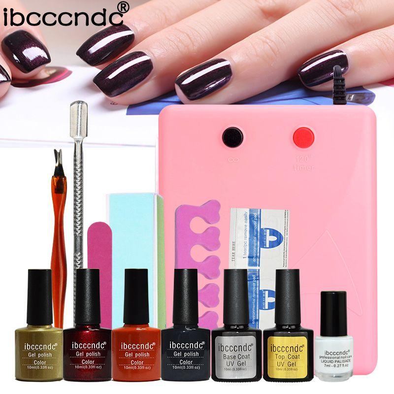sale nail gel polish tools pro 36w uv lamp 4 colors gel varnishes ...