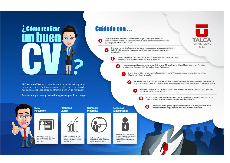 Cómo hacer un buen Curriculum Vitae #infografia #infographic #empleo
