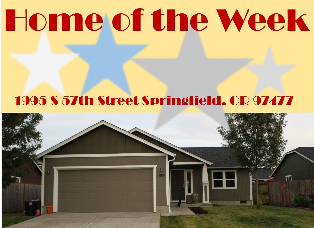 Home Of The Week Home Eugene Oregon Springfield