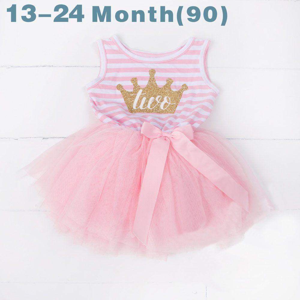 32036b3b05fc Summer Toddler Baby Dress First Communion Stripe Baptism Child ...