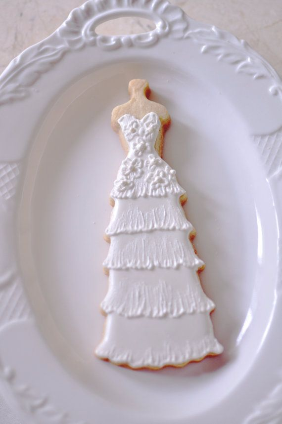 10 Bridal Gown Cookies-Lace Wedding Dress Cookies, Bridal Shower ...