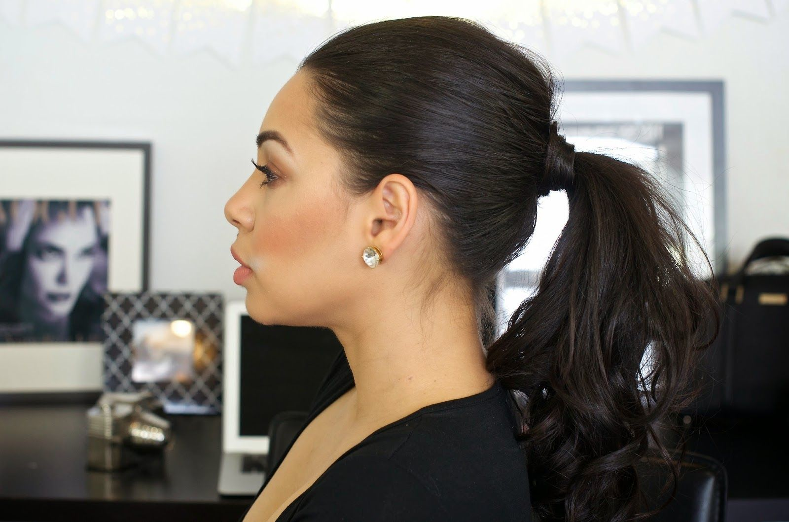 Easy big ponytail hair tutorial hair inspiration the style