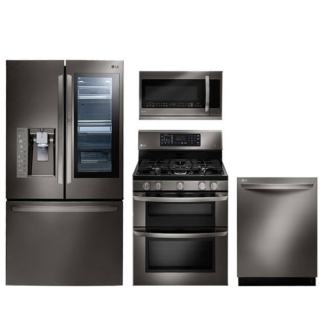 Discover The Lg Black Stainless Steel Series Featuring A Black Sta Kitchen Appliance Packages Black Stainless Steel Kitchen Stainless Steel Kitchen Appliances
