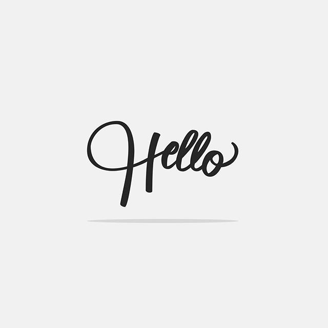 Can't stop using this Hello lettering. Just experimenting with different techniques. What do ...