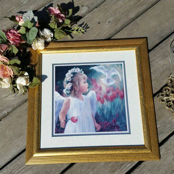 Home Interiors Picture Set Grouping Angel Dove With Etsy