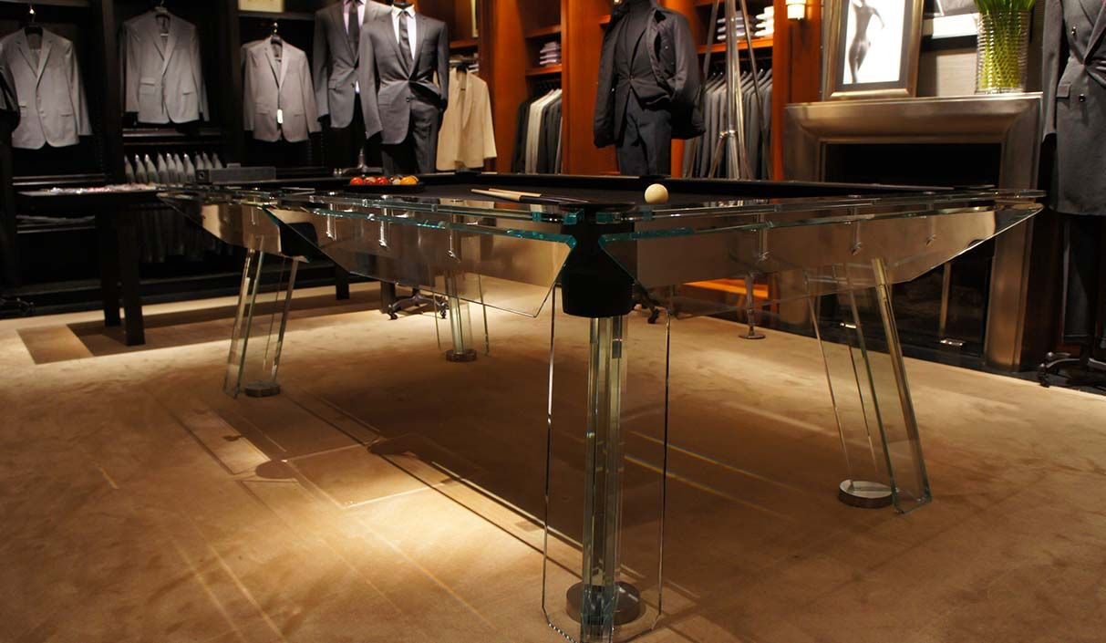 Man Cave Store North Bay : Filotto crystal glass pool table from calma e gesso north bay
