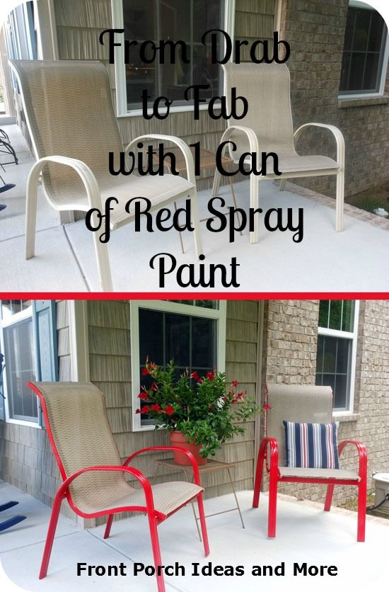 Spray Paint Chair Ideas Porch Furniture Front Porches