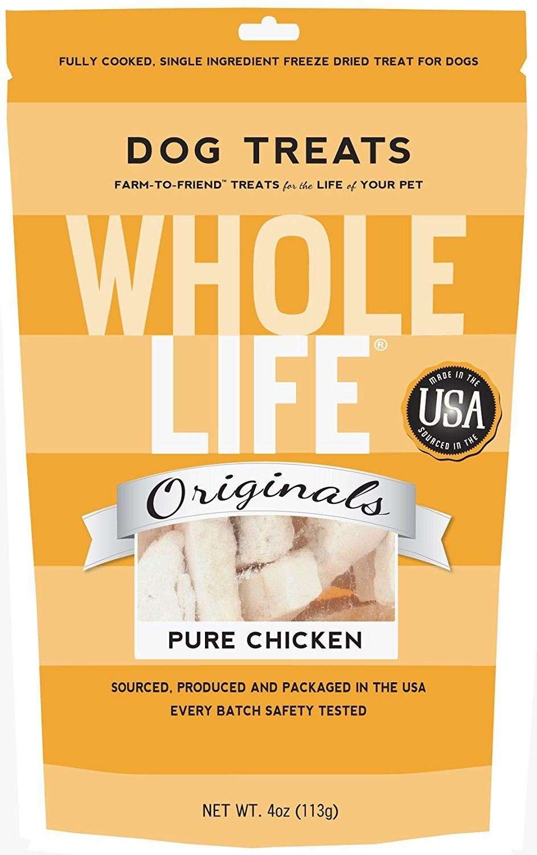 Freeze dried whole life dog treat 4 flavors usa