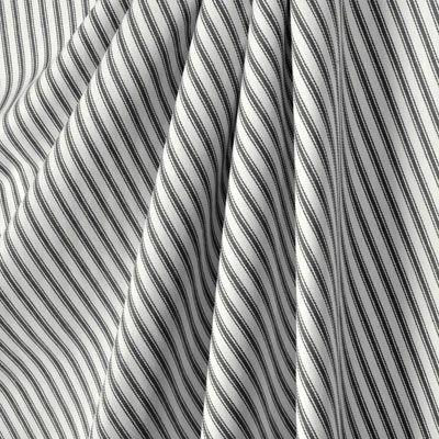 Waverly Classic Ticking Black Fabric
