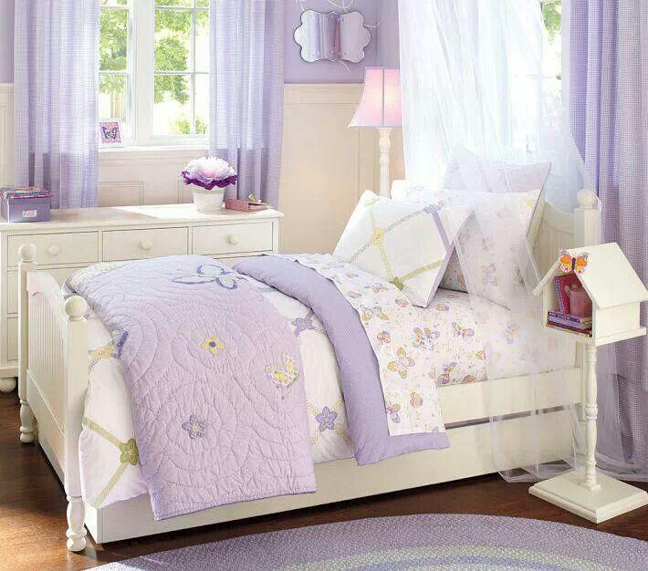 Pottery Barn Bedding Purple Butterflys Purple Bedrooms