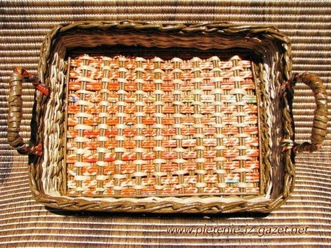 ▬► Плетение из газет квадратного дна -Часть1. / Bottom of the basket wea...- Kör alakból négyzet vagy téglalap alj készítése
