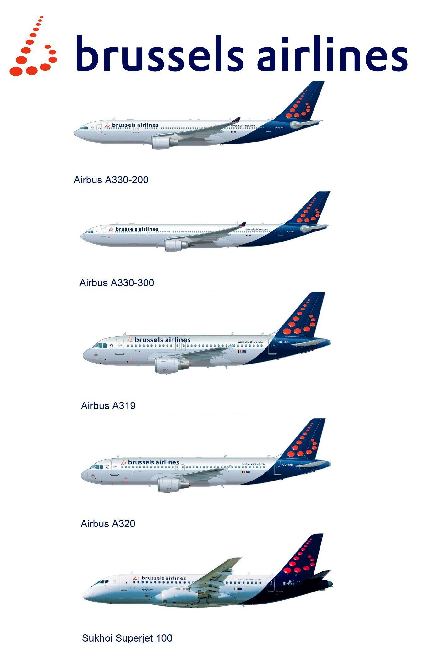 Brussels Airlines Fleet 2018   Airline Fleets   Civil aviation