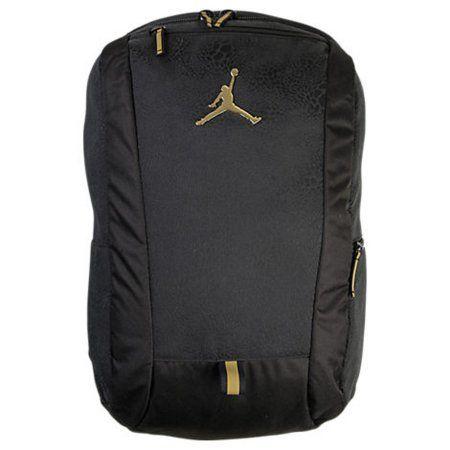 0f072dcb8a47 Jordan Youth Boys Cat Backpack Black Gold