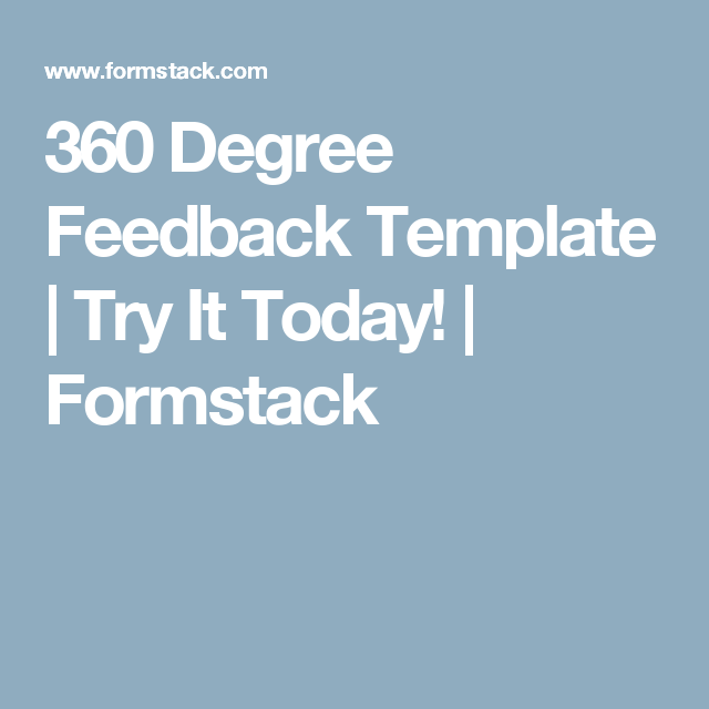 Awesome  Degree Feedback Template  Try It Today  Formstack