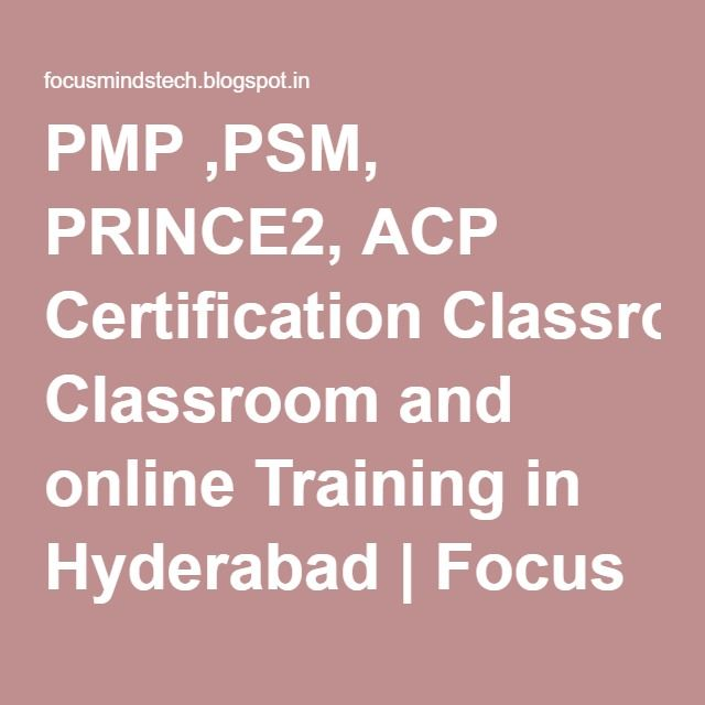 PMP ,PSM, PRINCE2, ACP Certification Classroom and online Tr ...