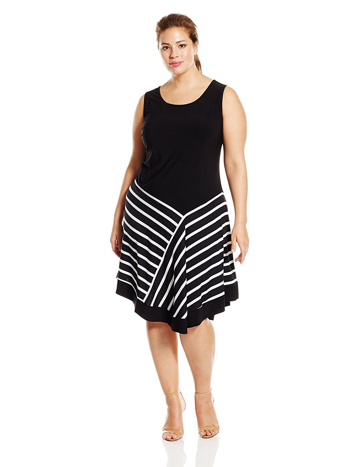 Msk Womens Plus Size Stripped Hem Dress Hurry Check Out This