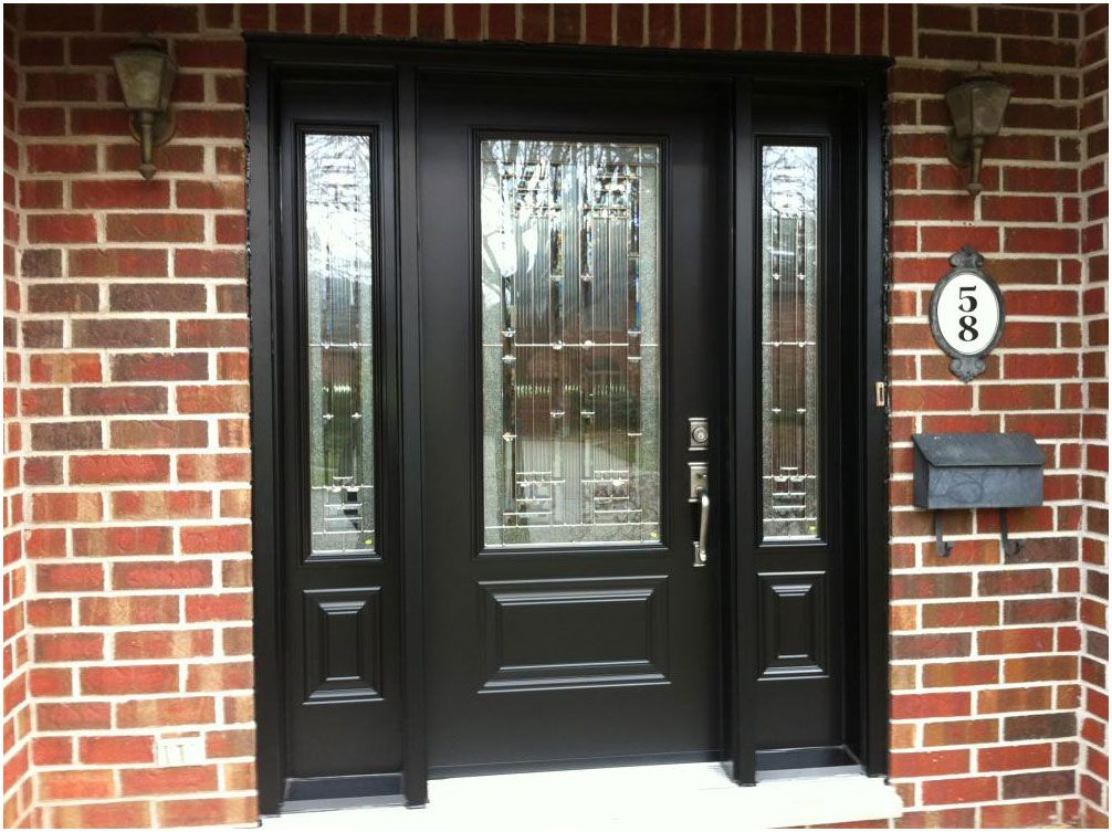 Doors Mahogany Front Door With Sidelights And Single Solid Wood