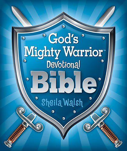 God's Mighty Warrior Devotional Bible by Sheila Walsh,http://www.amazon.com/dp/1400320402/ref=cm_sw_r_pi_dp_yhQ0sb0RCXQ7XN3Q