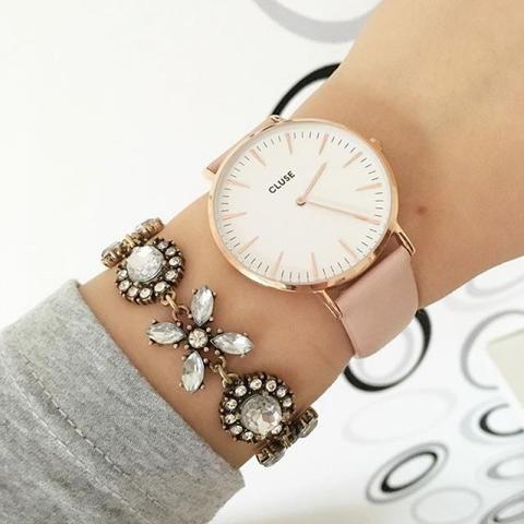 Montre - CLUSE - La Bohème Rose Gold White CL18014 - PRECIOVS #watch #watches