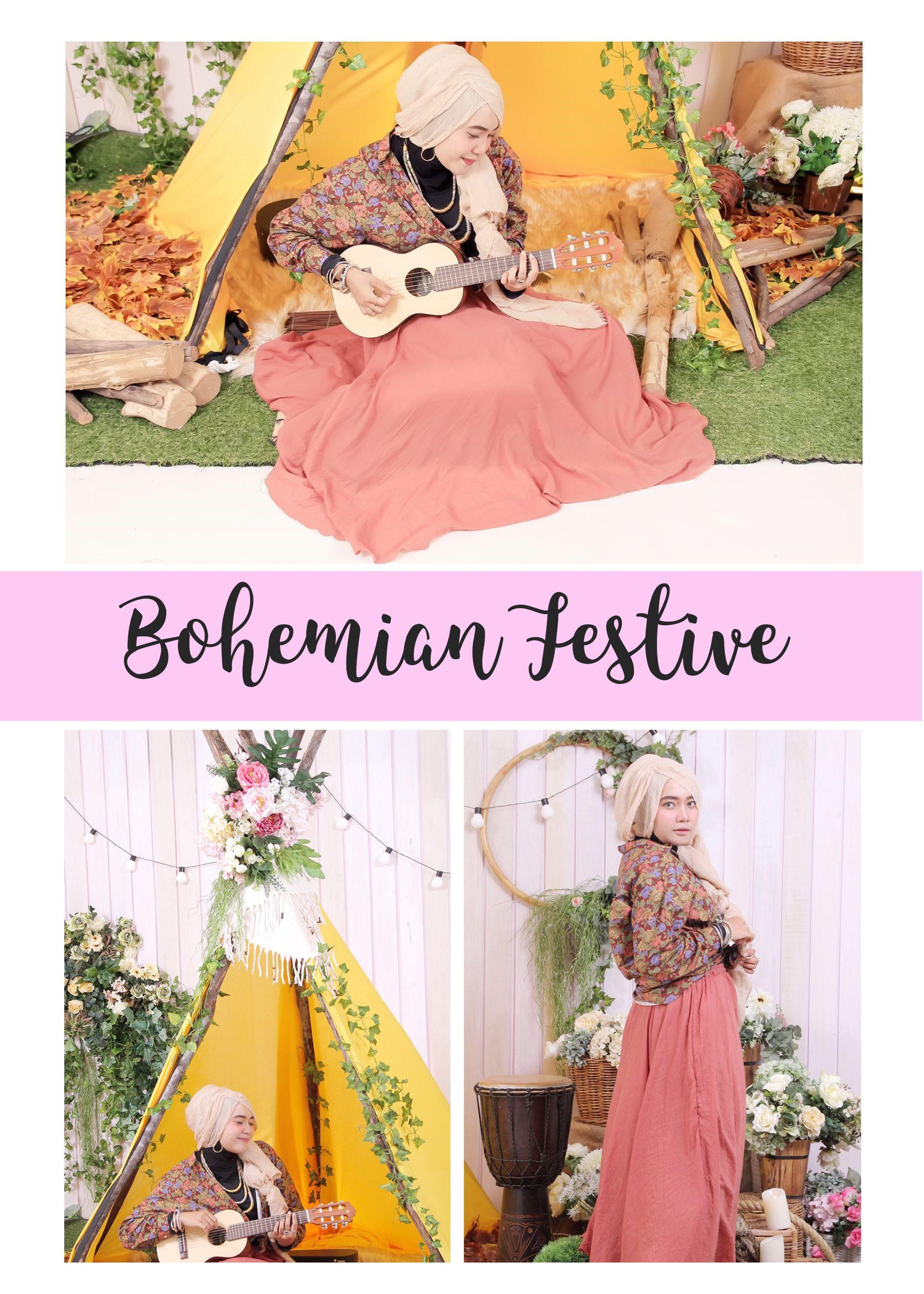 4808f3fbac0 Boho chic hijab outfit boho chic hijab style bohemian