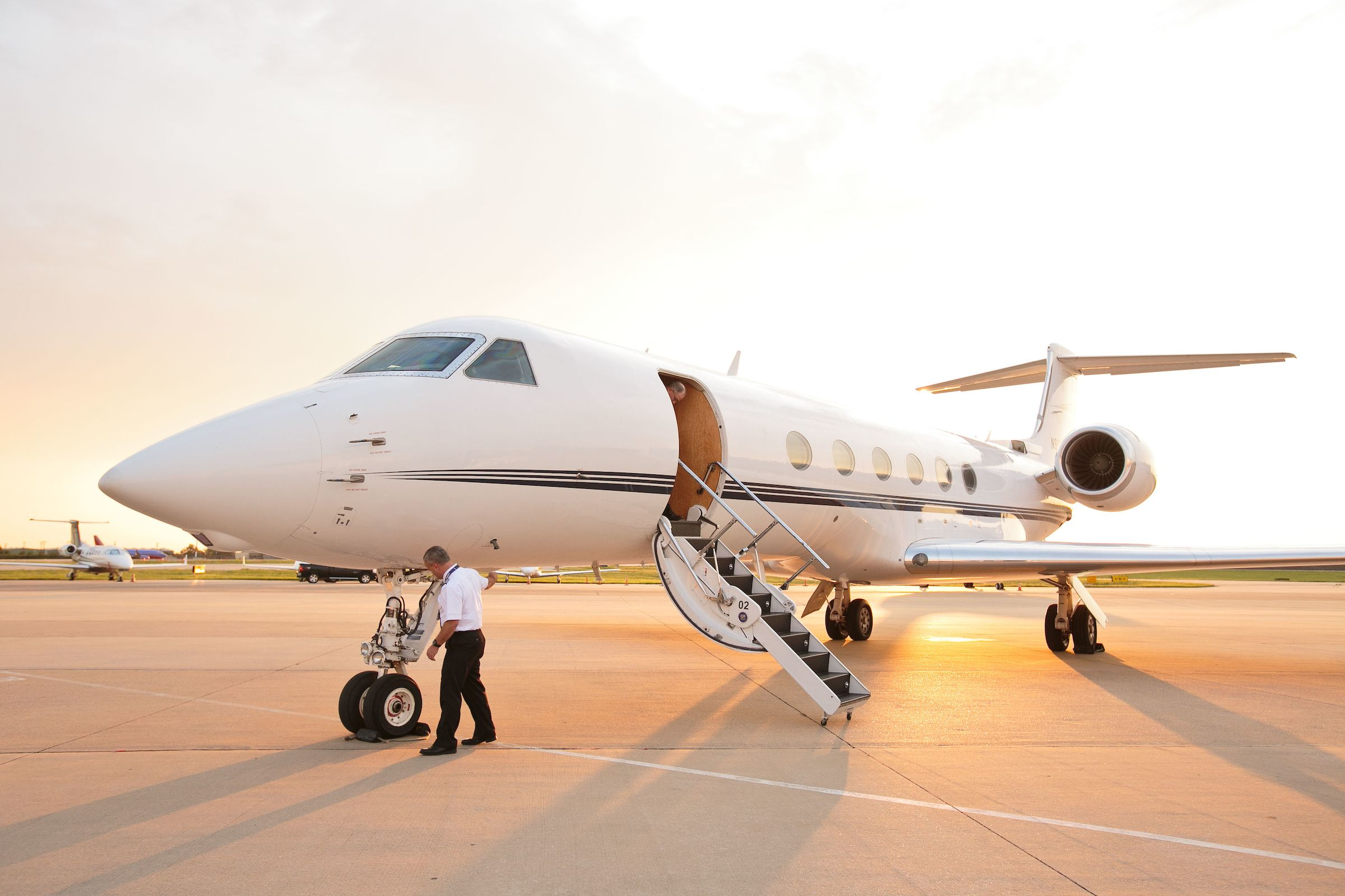 Guests arrived by private jet to attend this Surprise 50th