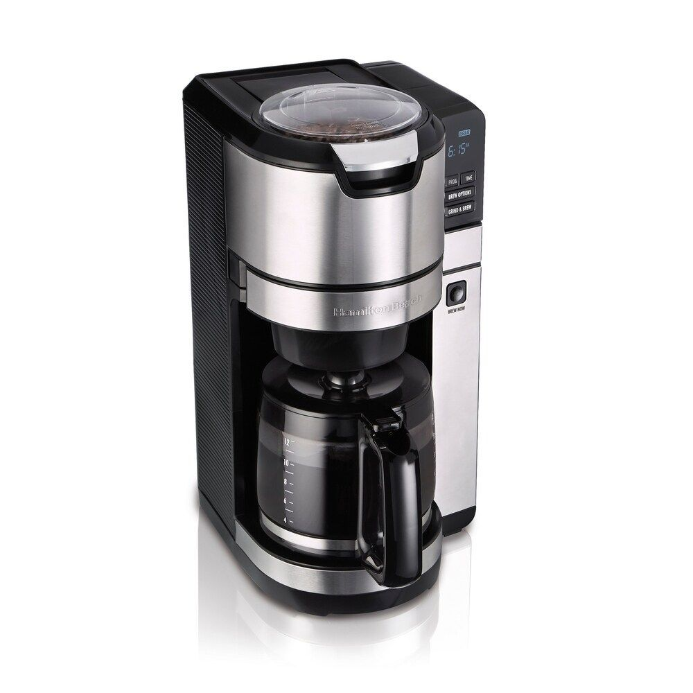 Hamilton Beach Programmable Grind and Brew 12 Cup Coffee