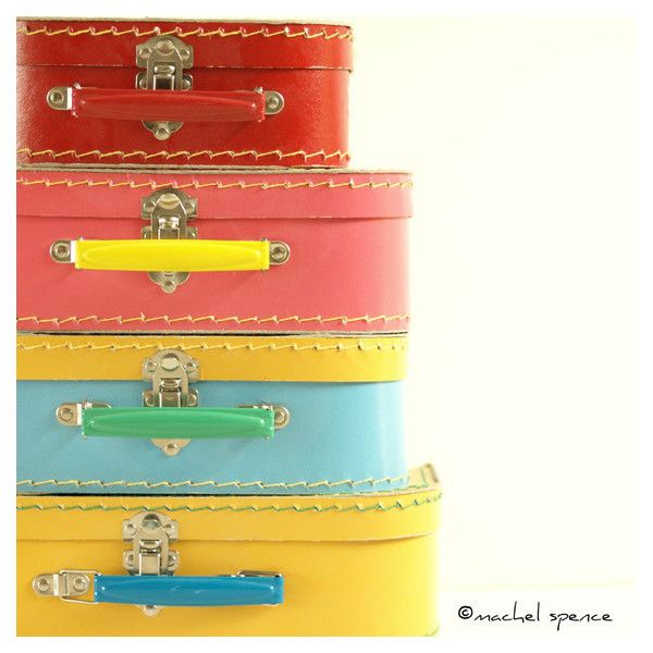 PHOTOGRAPHS of a Set of Four Vintage Suitcases 10X10 Vintage Vintage... ($15) ❤ liked on Polyvore