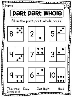 Everything You Need To Teach Part Whole And Other Number Sense Concepts Help Kids Understand How Make Numbers Decompose 10