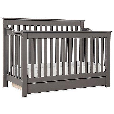 Davinci Piedmont 4 In 1 Convertible Crib In Slate Convertible Crib Cribs Grey Baby Cribs