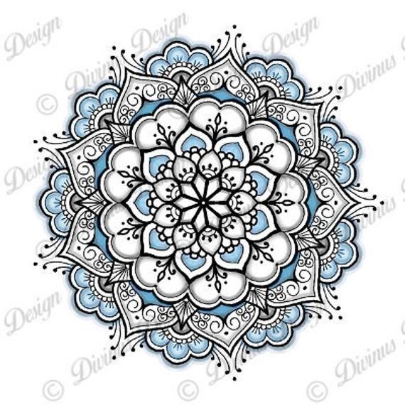Elegant Mandala Tattoo And Stencil Instant Digital Download