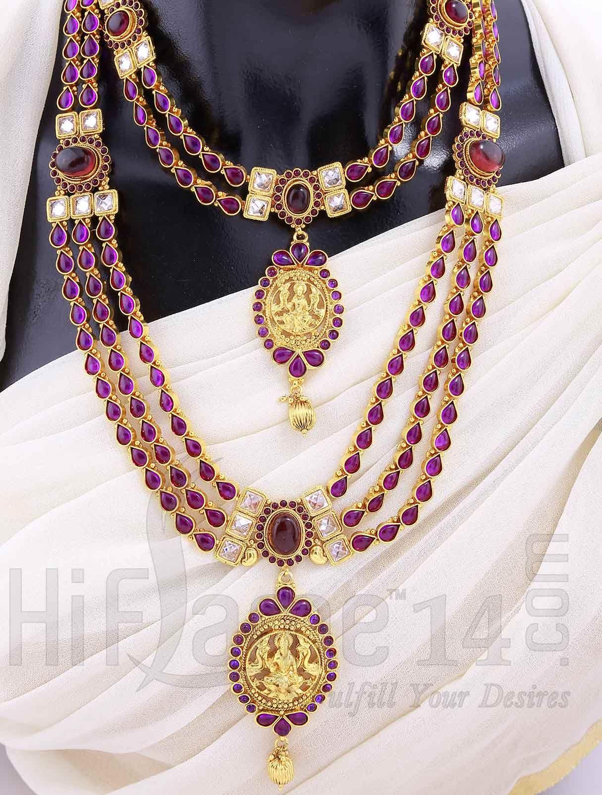 Bridal Purple Kemp Jewelery Set