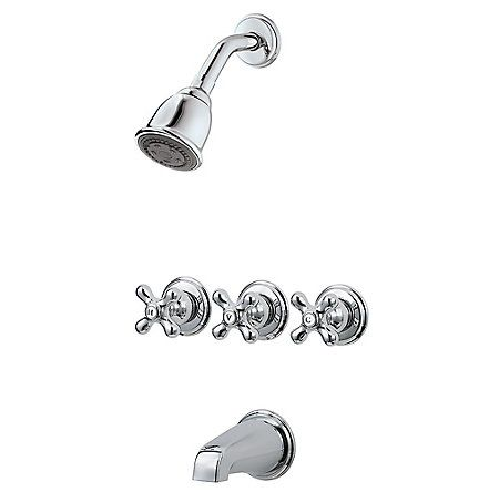 Pfister 3 Handle Tub Shower Faucet Shower Faucet Tub Shower Faucets Shower Tub