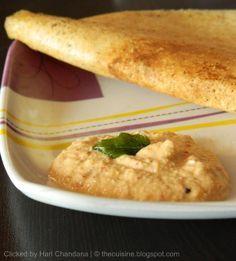 Indian Cuisine: Peanut Onion Chutney Recipe for Dosa / idlis