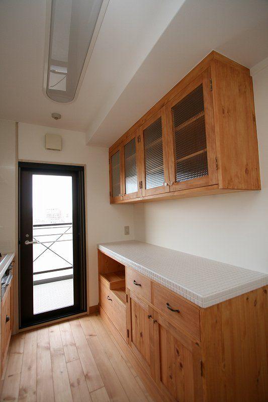 大工さん手づくりの造作食器棚 ローorハイorセパレート 木製orタイル