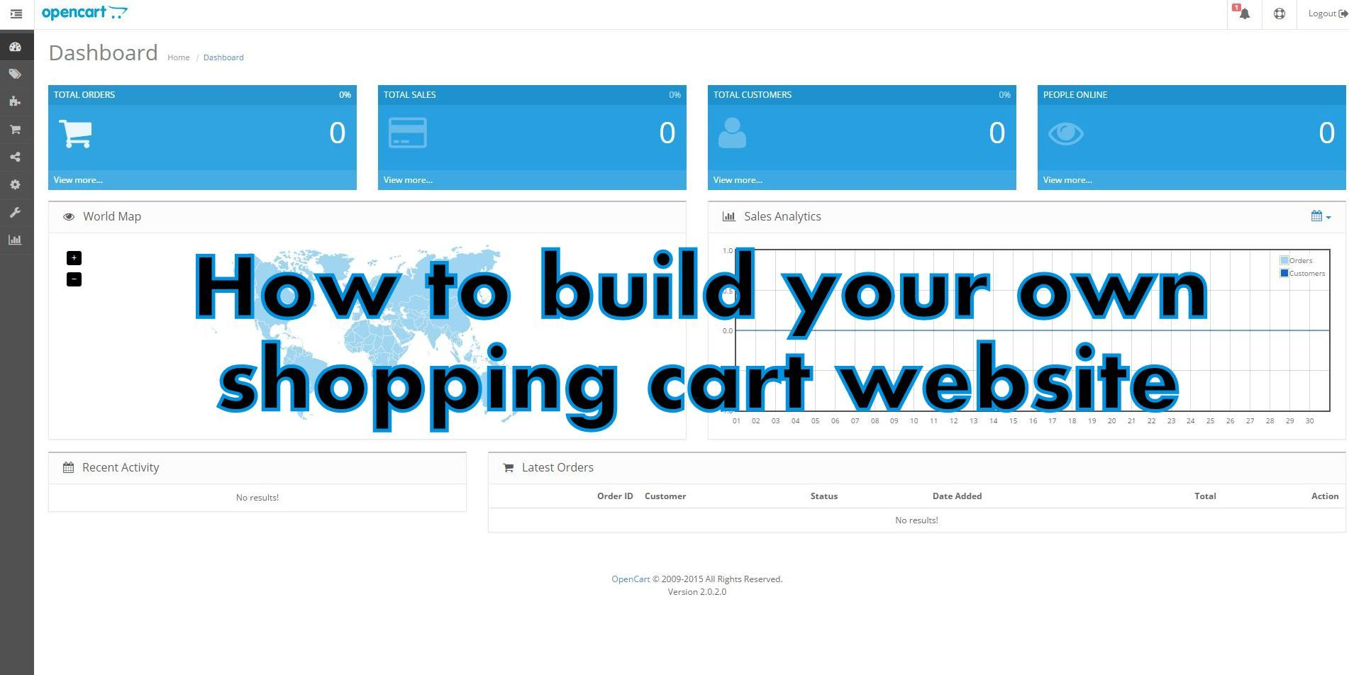 how to shopping cart website