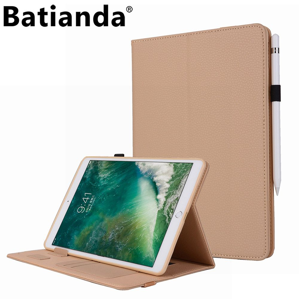 "Ipad Pro 9.7 Case With Pencil Holder Brilliant Batianda For Ipad Pro 105""premium Leather Case Stand Cover With Design Inspiration"