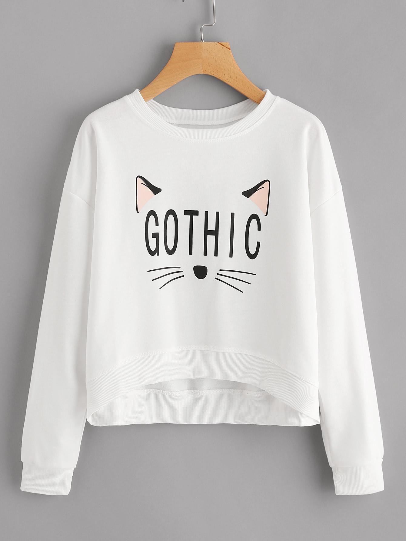 Graphic Print Sweatshirt | look | Pinterest | Sudadera, Proyectos de ...