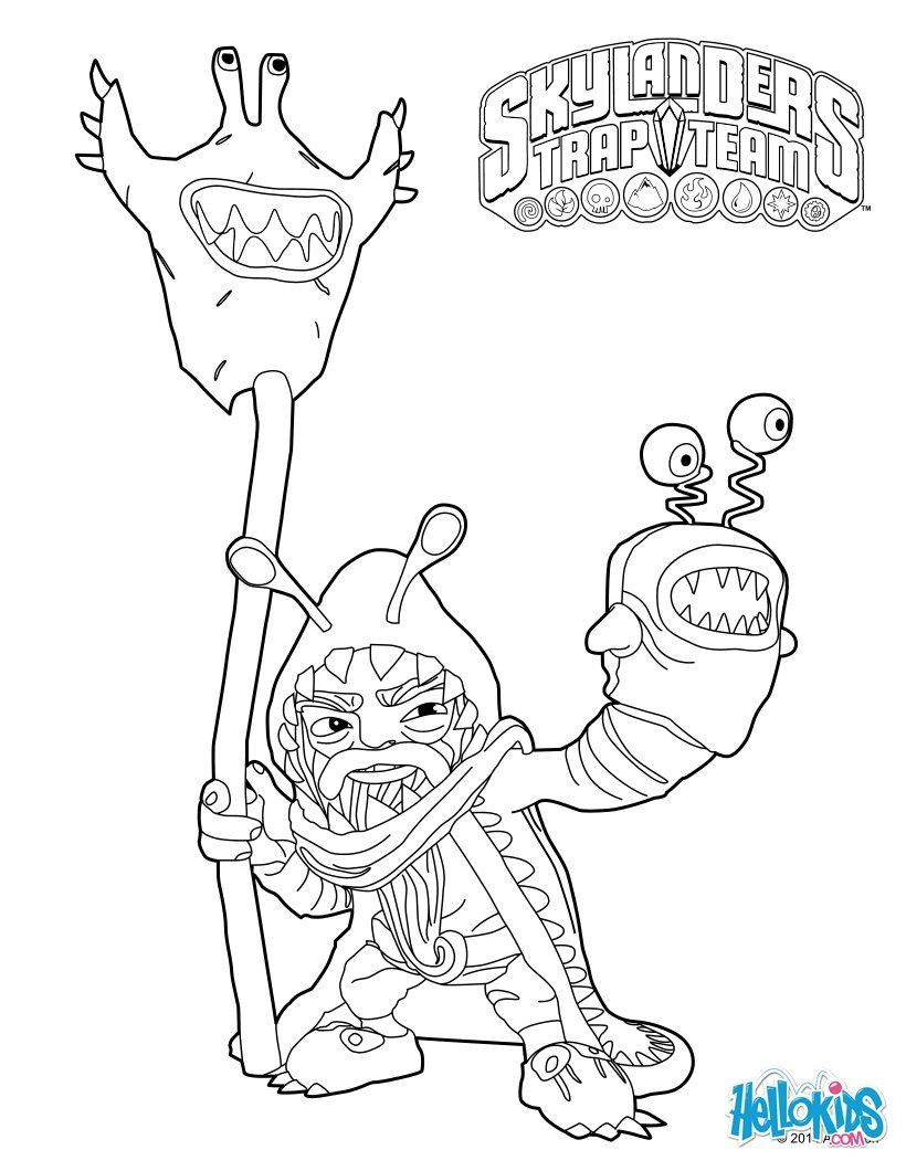 skylanders trap team coloring pages chompy mage