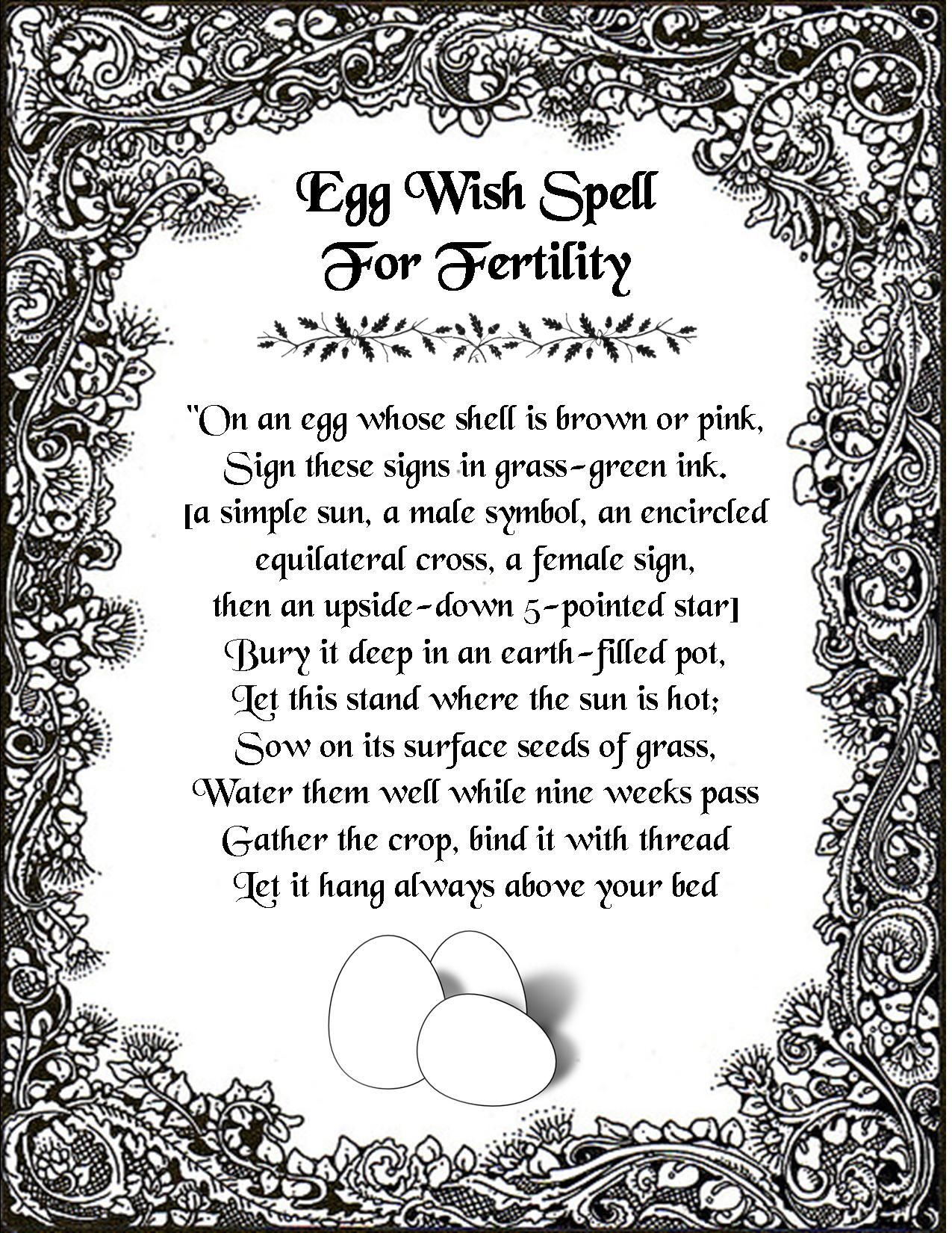 An egg wish spell for fertility witchy things pinterest an egg wish spell for fertility buycottarizona Choice Image